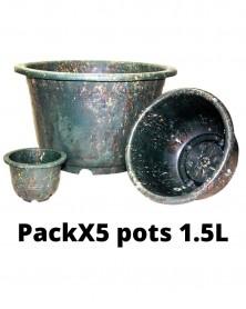 PACKX5 Pot vert 1.5L