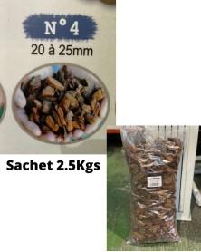 Ecorce de bois N°4 sachet de 2.5Kgs