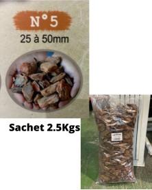 Ecorce de bois N°5 sachet de 2.5Kgs
