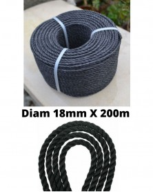 CORDE PE Diam18mmX200m ANTI UV