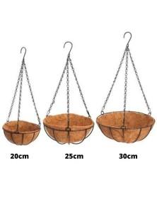 Pot suspendu + bourre de coco 25cm (4L)