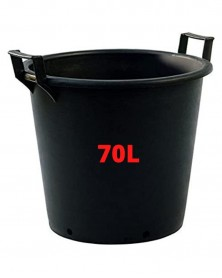Pot Noir + poignée  70L