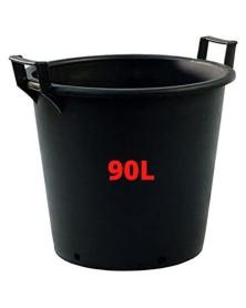 Pot Noir + poignée  90L