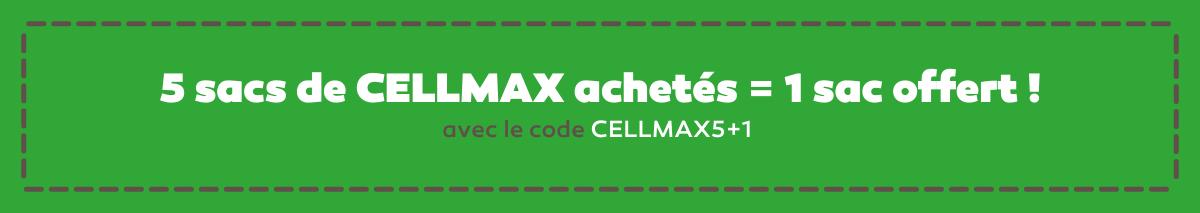 Offre TBA  5 sacs de CELLMAX achetés = 1 sac offert ! avec le code CELLMAX5+1